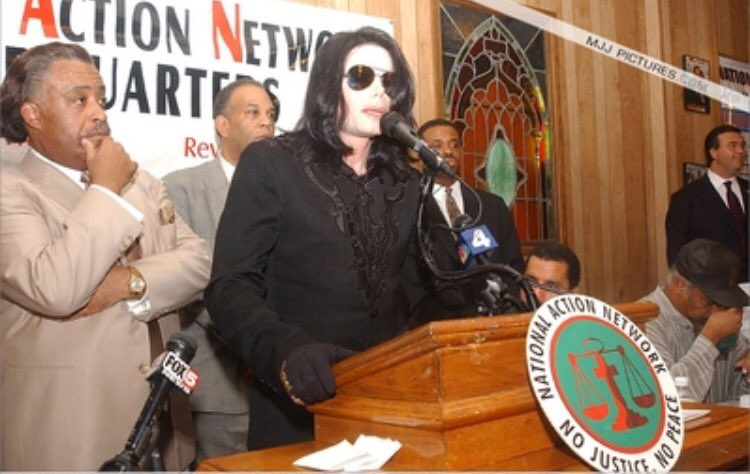 This was #MichaelJackson at the NAN Saturday Action Rally in 2002. Thi...