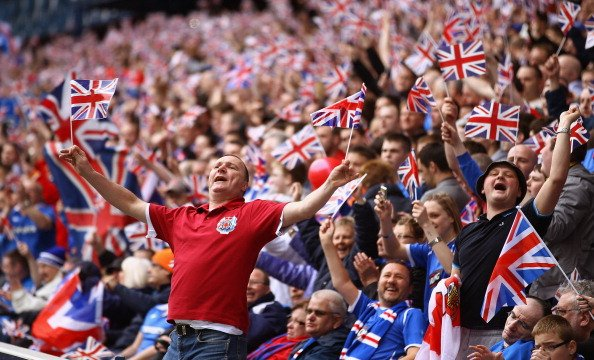 Record attendance for a #UEL 1st round qualifier: 34, 966 (WHUFC v Lusitanos)  #Rangers attendance on Thursday: 41,000+  &quot;Follow, follow!&quot; <br>http://pic.twitter.com/7ZI37gWGrw