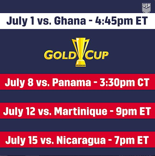 All that shimmers 🏆.  Study up on the #USMNT's 23-man @GoldCup roster: https://t.co/V5nQKQrR8W https://t.co/mzqNWvSbgm