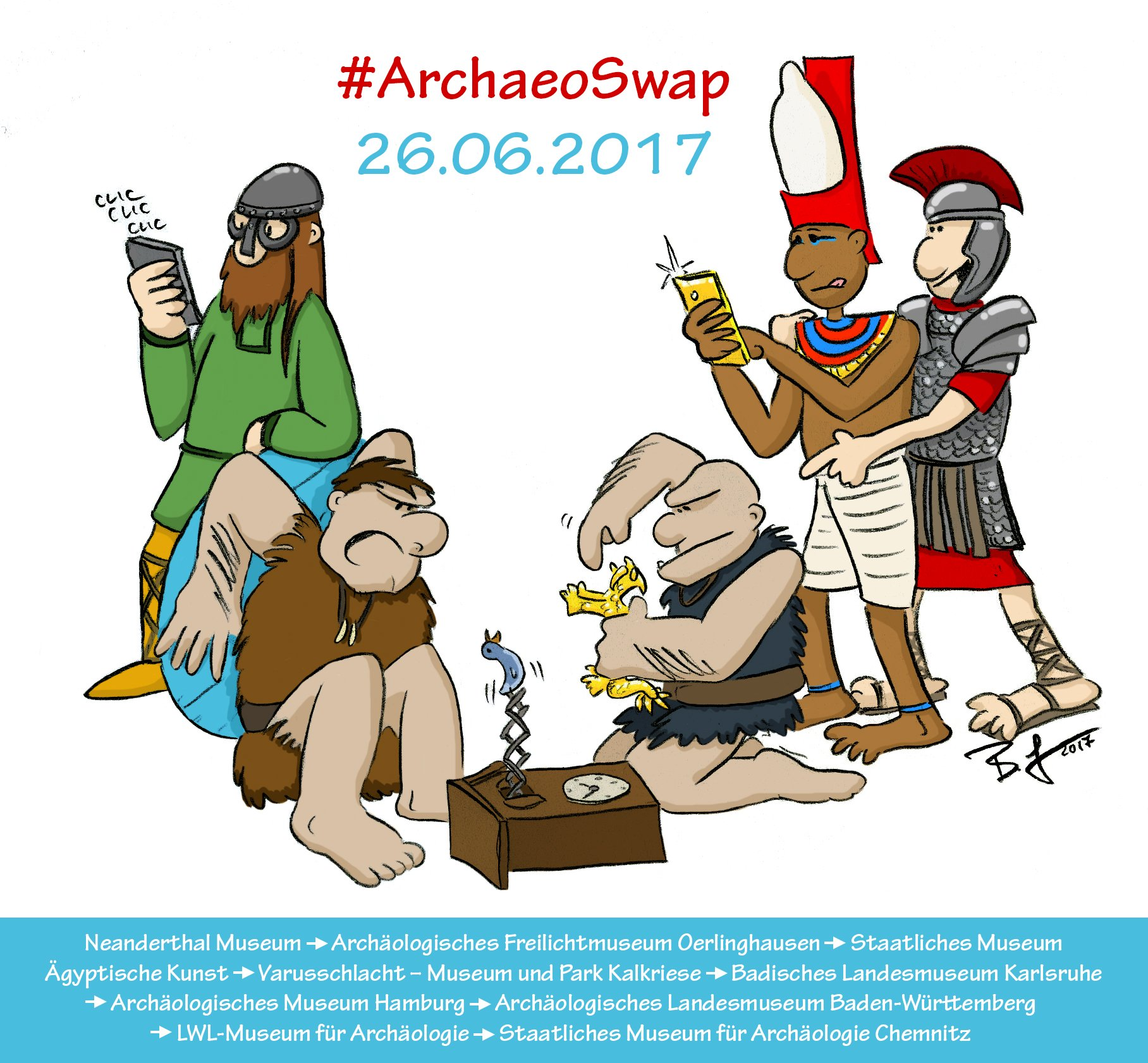 MORGEN #ArchaeoSwap mit neun archäologischen Museen! Auch unsere Accounts wandern - vom  Bodensee zur Waterkant. Wir freuen uns schon! /ds https://t.co/wutREjfjLG