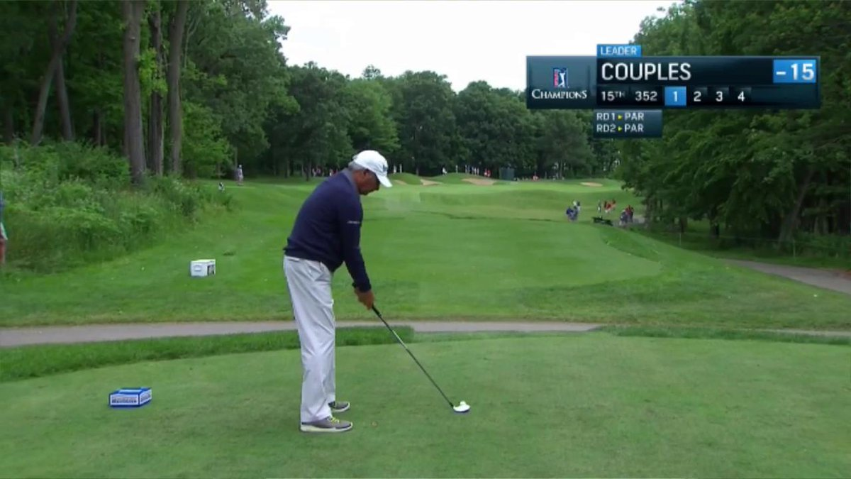 That swing. Fred Couples leads by 3 with 4 to play @amfamchamp. https:...