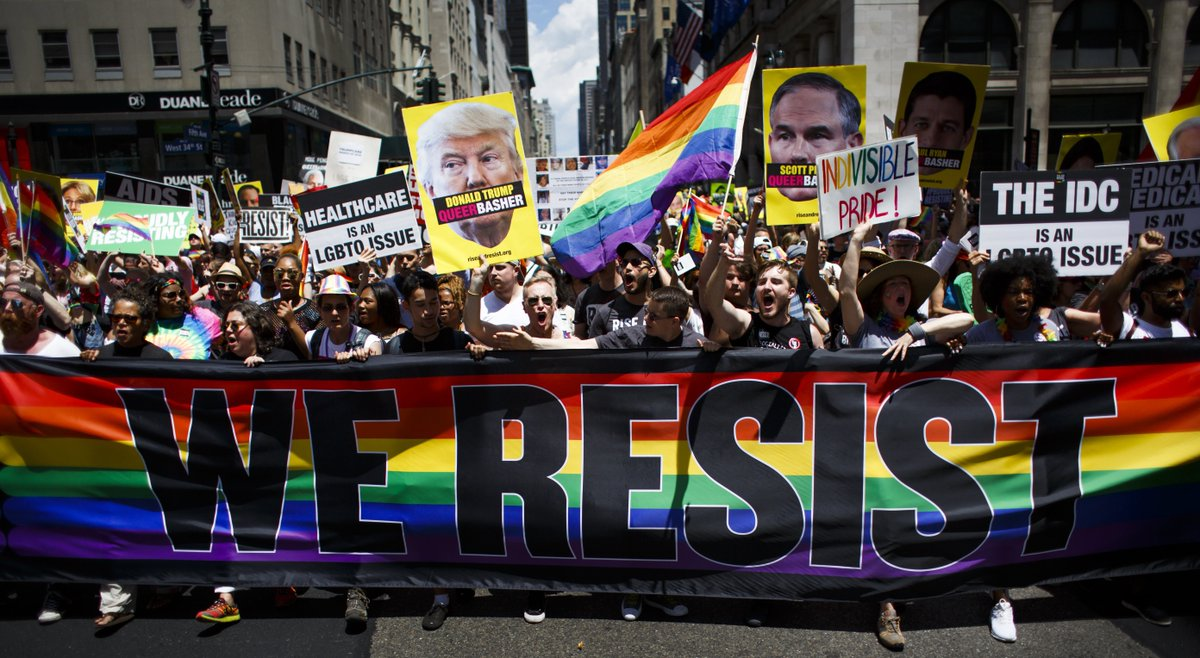 U.S. pride parades sound a note of resistance - and face some https://t.co/kaWfpFCQRC