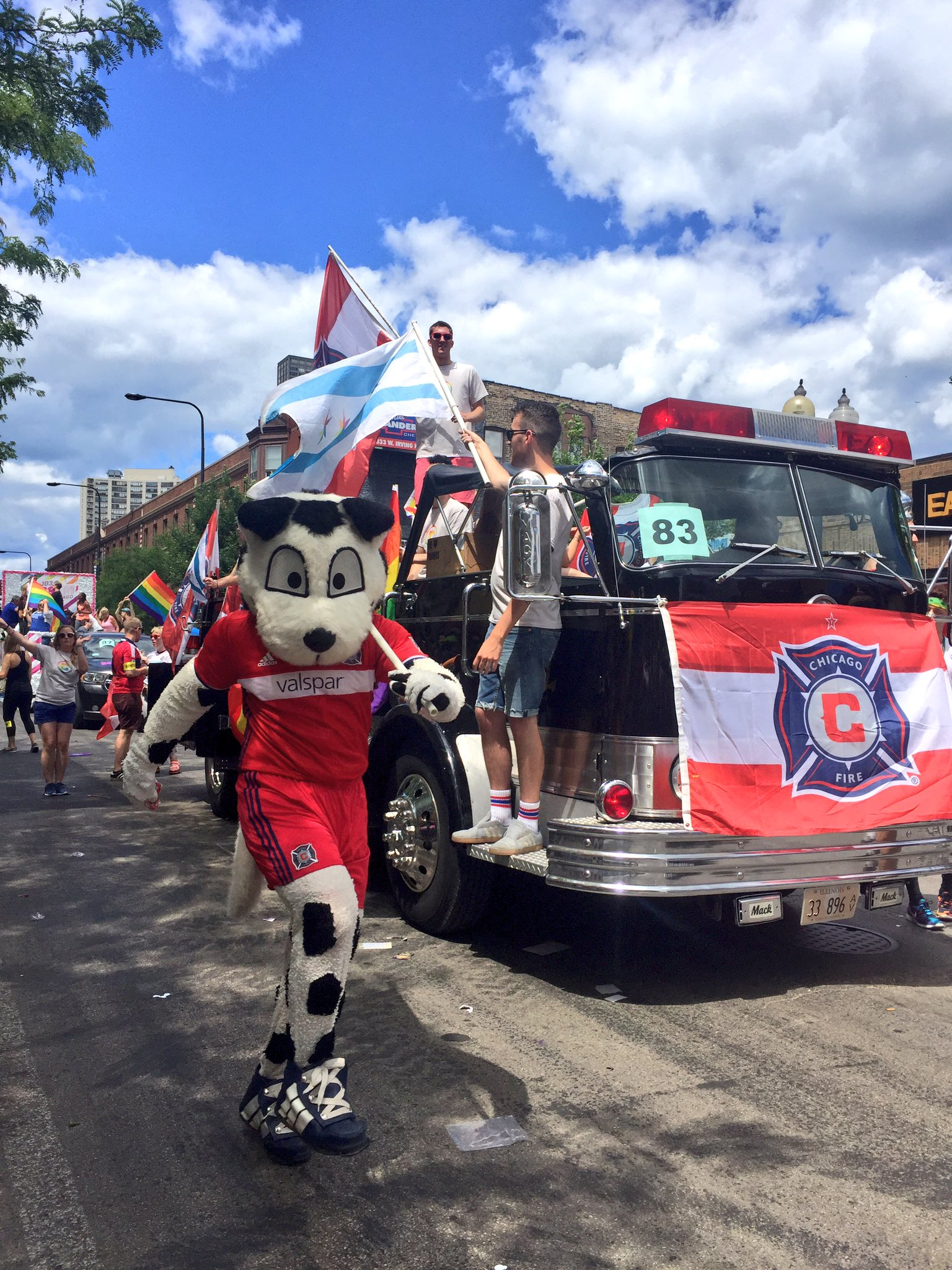 Proud to be out here supporting #Pride2017. Wave to us! #cf97 https://t.co/vGys3fXjic