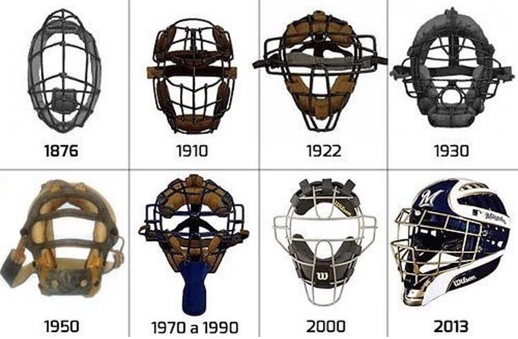 The evolution of the catchers mask 👀