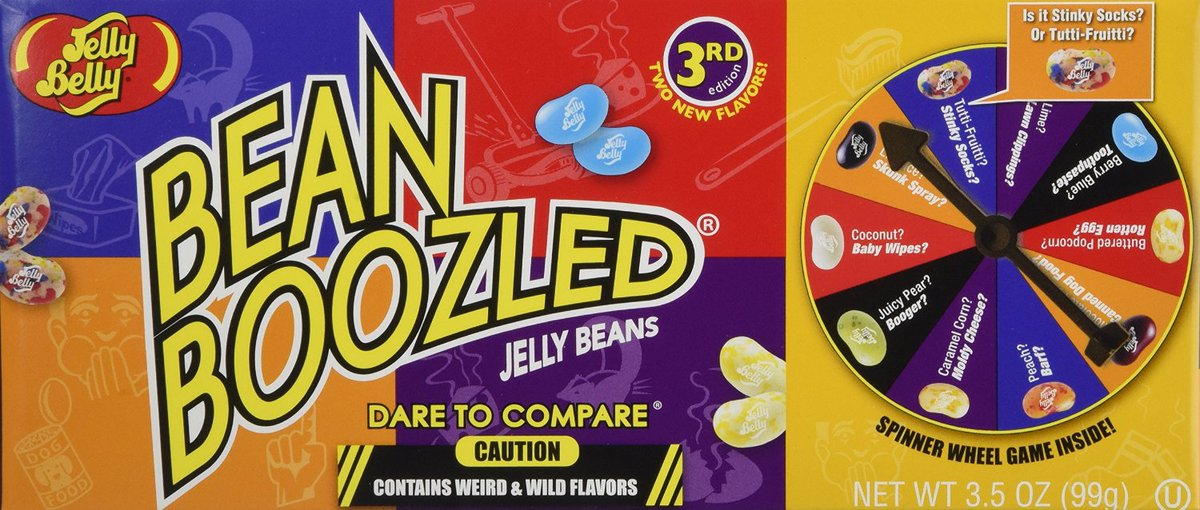Jelly Belly Bean Boozled Jelly Beans 3.5 oz with Spinner Wheel Game ht...