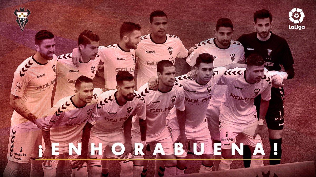 Solo un año después... ¡el @AlbaceteBPSAD regresa a #LaLiga123! https:...