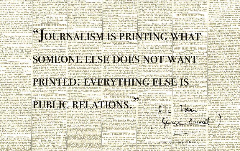 Journalism vs PR #journalism