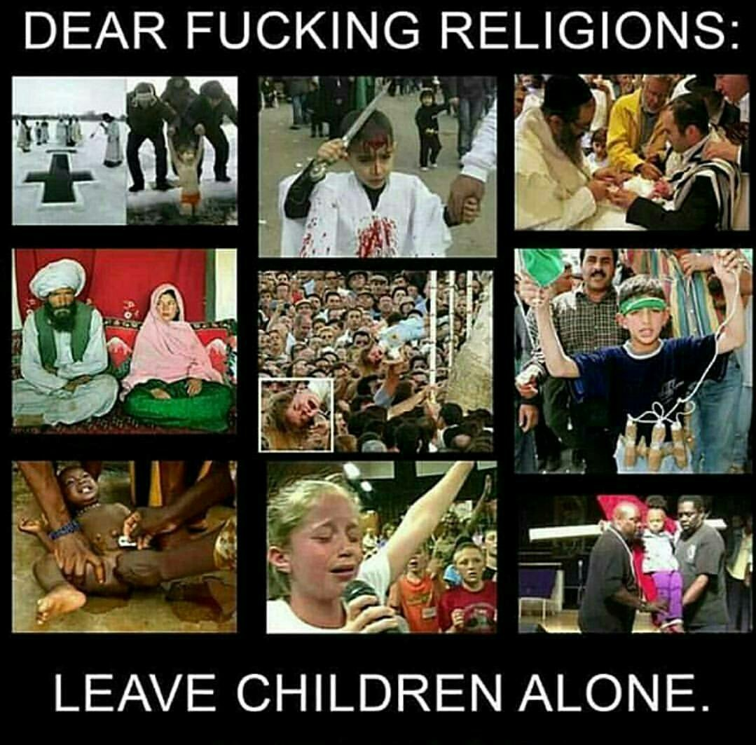 Using children to promote your fucked up beliefs is abusive. Just stop it.  #islam #christianity #religion #atheism #atheist #children <br>http://pic.twitter.com/1m4gigpY0r