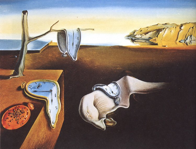 Salvador Dalí's strange and surreal 'Persistence of Memory' (via @mymo...