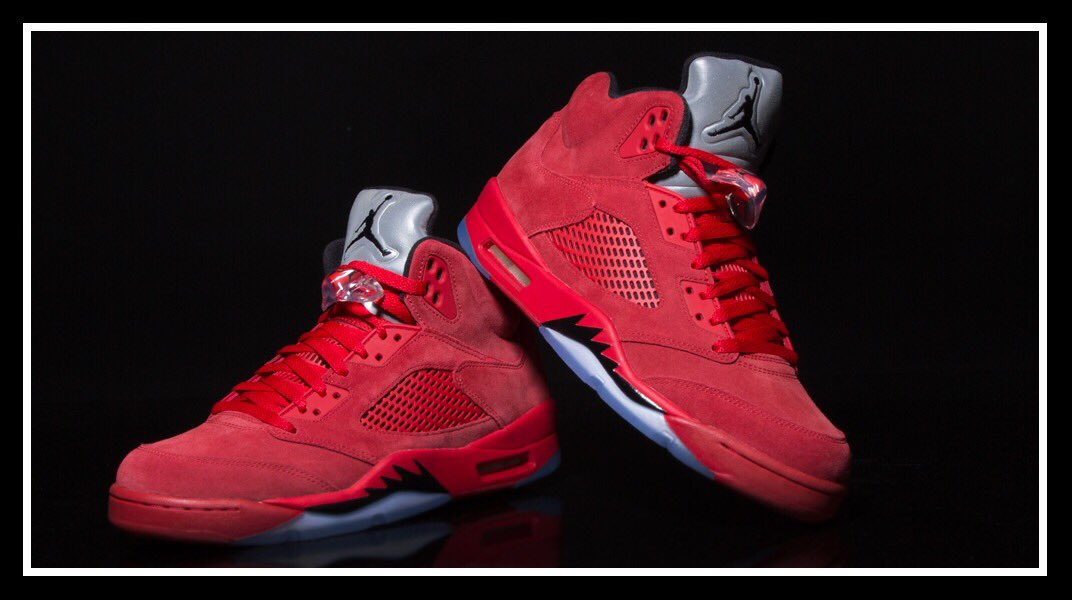 The #Jordan 5 &quot;Red Suede&quot; are next up dropping this Saturday? Are you grabbing a pair? <br>http://pic.twitter.com/GvKWixtdgn