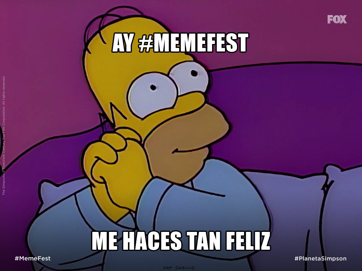 #MemeFest es TT, y...  #PlanetaSimpson #LosSimpsonEnFOX https://t.co/T...