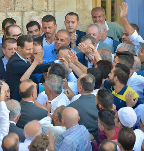 To the enemies of Syria: This is #Assad today after 6 years of war. Look at his popularity. You envy him &amp; you wish you were him. #FromSyria<br>http://pic.twitter.com/aOAUrEzqcV