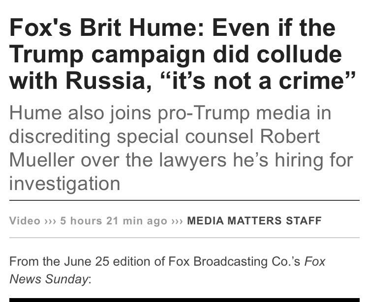 really odd recent trend of right-wing pundits saying Collusion Is Actu...