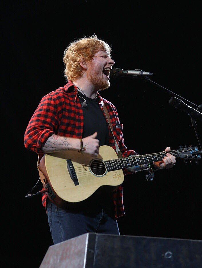 Ed Sheeran, Pyramid Stage, Sunday night....
