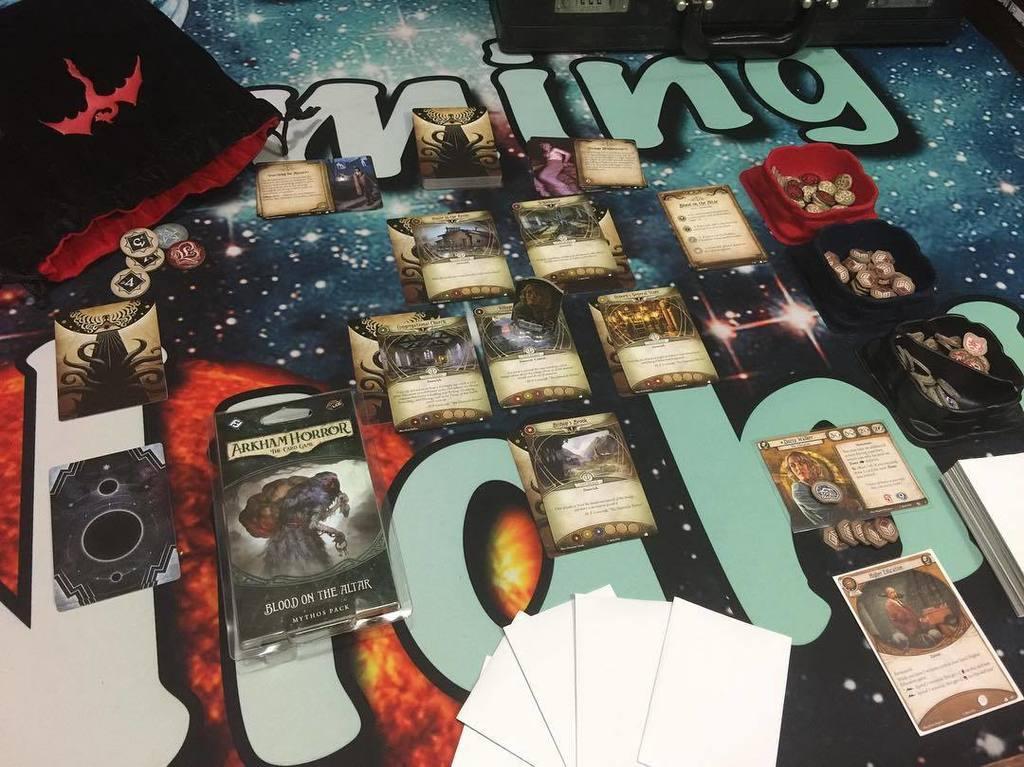 Time to explore Dunwich! Arkham Horror LCG! #boardgames #gamenight @fa...