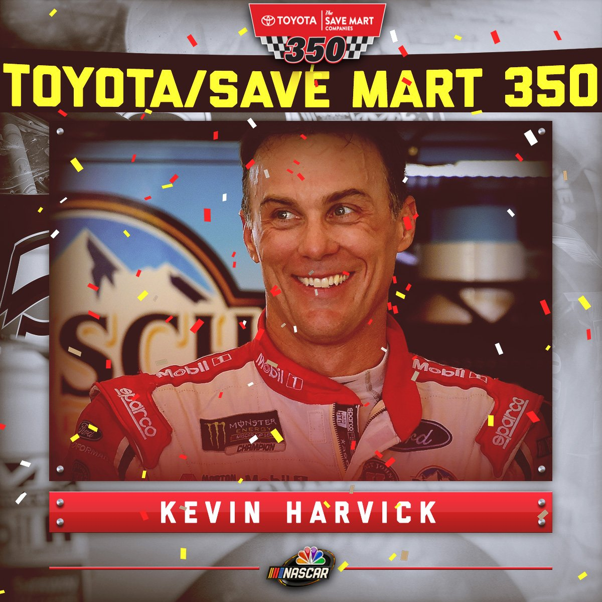 🏁CALIFORNIA'S @KevinHarvick WINS AT @RaceSonoma! 🏁  #TSM350 #NASCAR ht...