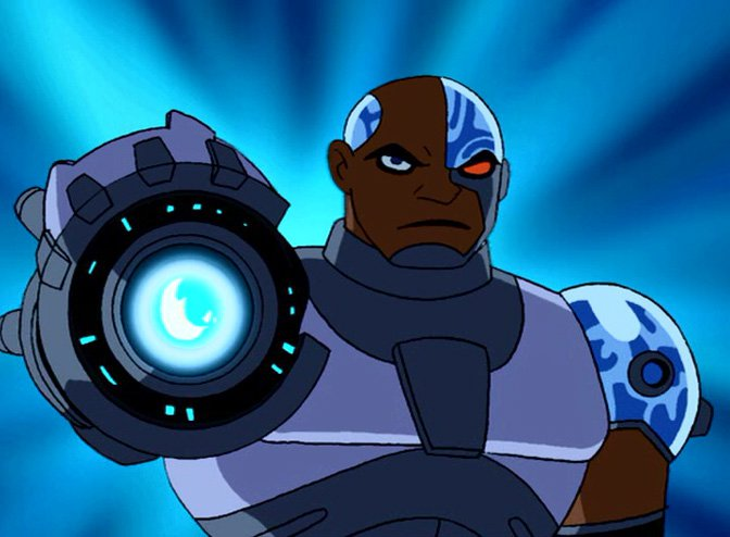 Cyborg (Teen Titans)  Very serious but also very funny https://t.co/Ra...