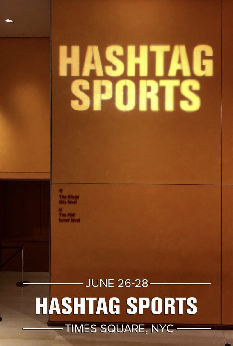 Team Hashtag is getting hype for #HS17! Ready to rock the #sportsbiz 🌎...