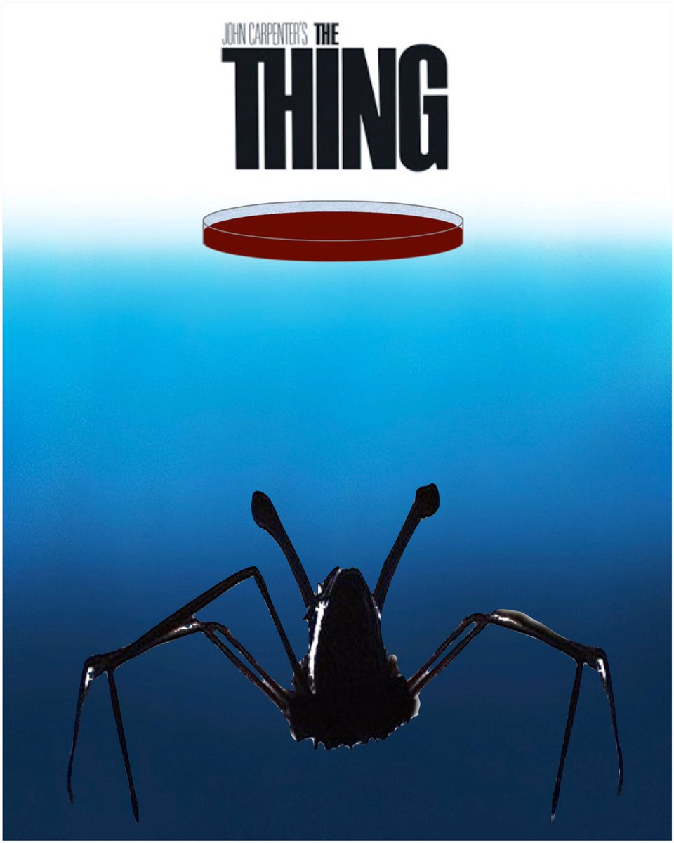 Happy 35th Birthday &#39;The Thing&#39; from your cinematic monster-movie cousin, Jaws!  #thething #jaws #monster #alien #shark #birthday<br>http://pic.twitter.com/bDoFhjPPTj