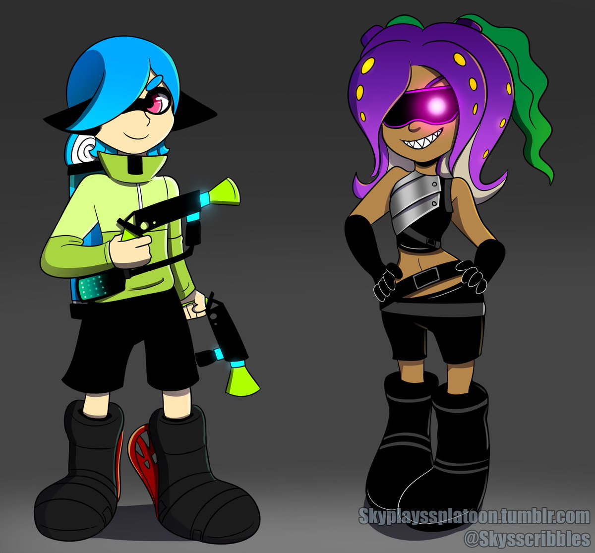 Commission work for a pal on Tumblr in honor of Splatoon 2! #Splatoon2 #Inkling #Octoling  #Commission <br>http://pic.twitter.com/rIwSio7mzZ