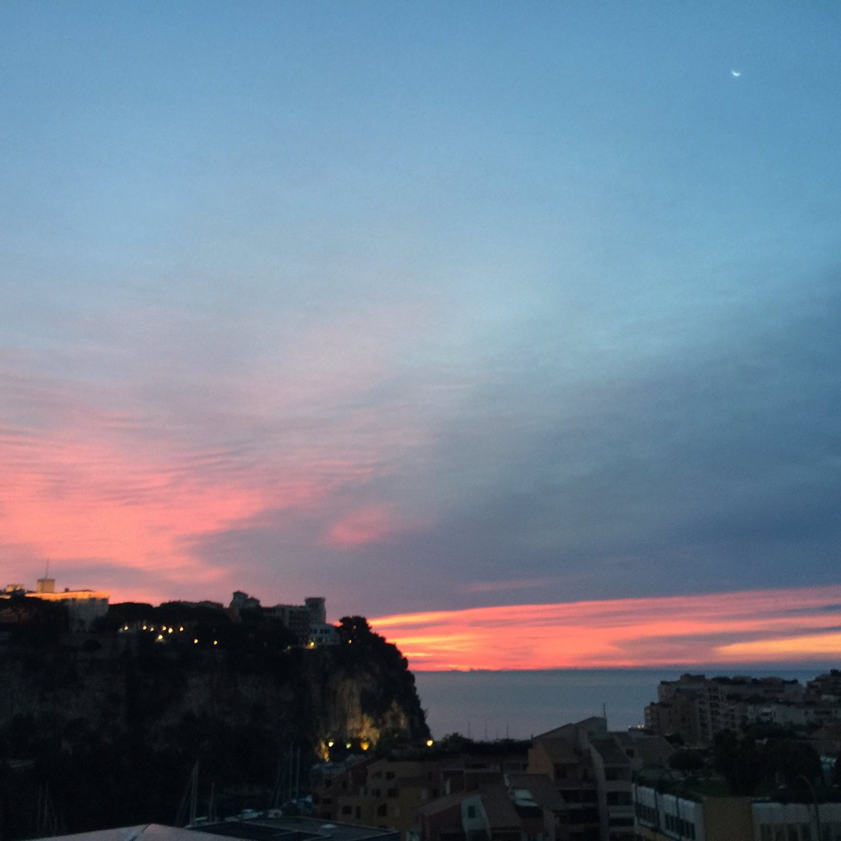 Good morning from #Monaco. The rising sun brings us 1 day closer to leaving on our 3 year journey around the . #monacoexplorations 31 days.<br>http://pic.twitter.com/i6uo2POLGQ