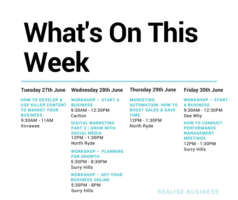 #DigitalMarketing #ContentMarketing #MarketingAutomation | Lots of workshops this week for keen marketers! Book now:  http:// bit.ly/2nUQLVZ  &nbsp;  <br>http://pic.twitter.com/MzVO5mLyPd