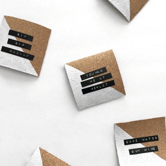 DIY Label Maker Coasters