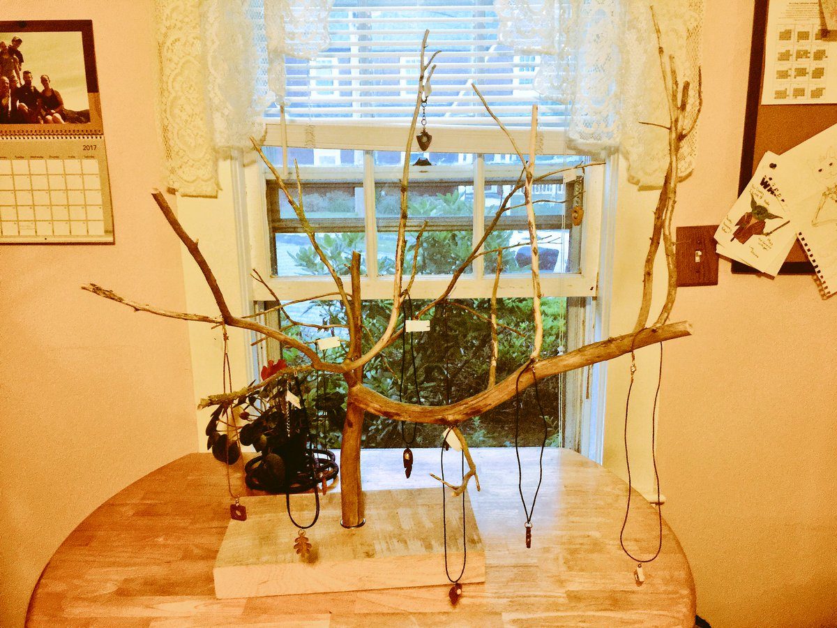 #jewelry #display from fallen #tree limb in action!! #EtsyChaChing #woodworking #marketing #wood #abstract #handmade #like #FolloMe <br>http://pic.twitter.com/PjUztPSAUW
