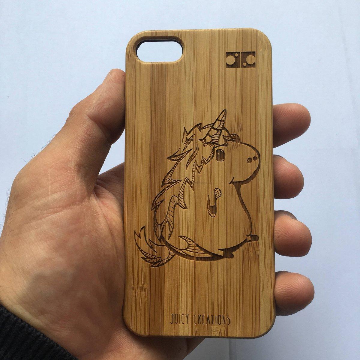 Juicy Creations On Twitter Cute Cartoon Unicorn Bespoke Wooden Engraved Bamboo Phone Case Https T Co 3zyq0v60ca Etsy Unicornphonecase