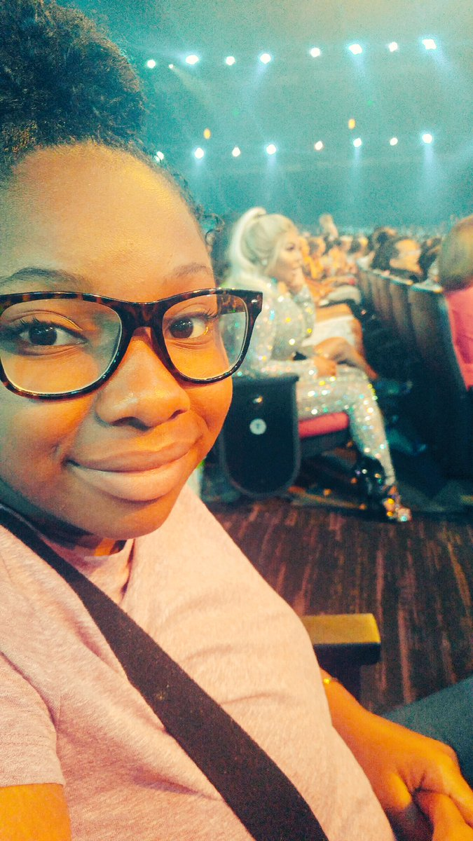 I think my niece Mali has the best seats at #BETAwards. Arm's reach away from hip hop royalty. This show was her 12th bday gift. #coolaunt