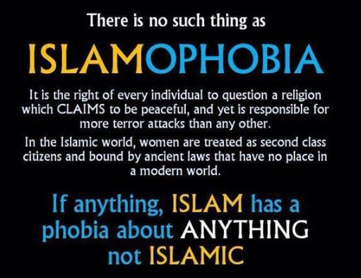 There is no such thing as ISLAMOPHOBIA  #BETAwards  #MAGA #terror #Trump #jihad<br>http://pic.twitter.com/OAKFyr8WQP