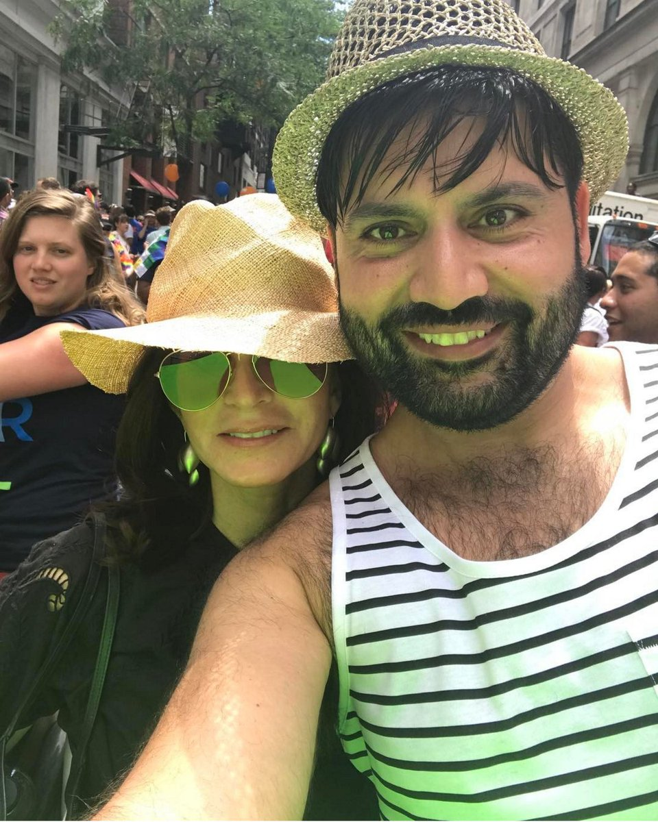Lining up for the #NYCPrideParade.