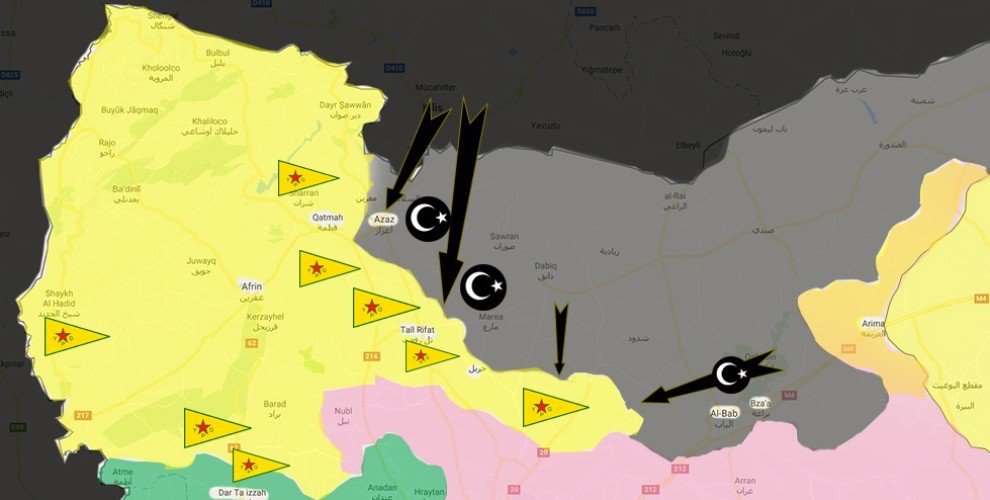 #Turkey and #Syria allegedly preparing embargo &amp; attack on #Rojava. #Israel #Kurdistan #PYD #Bakur #Russia #SDF #YPG<br>http://pic.twitter.com/DhWcp47Pz1