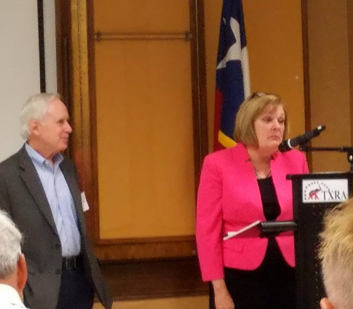 Fav StateRep @StephanieKlick at #TXRA #TexasRepublicanAssembly State convention well organized and well attended #Resolutions @SteveHollern<br>http://pic.twitter.com/tZddyXYEf1 &ndash; bij Botanical Gardens Banquet Room