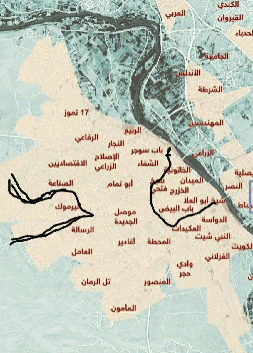 Based on early reports from #Amaq, areas marked (pic 1) are under #IslamicState control, #Mosul #Iraq, 2nd pic shows contested areas | <br>http://pic.twitter.com/mINXJWIFdw
