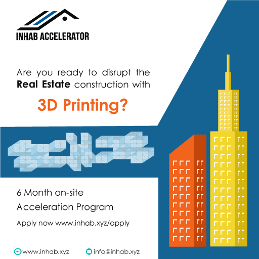 Are you ready to disrupt the #RealEstate constructions with #3dPrinting? Join @inhab_accel #startup #accelerator  https:// goo.gl/nKT8iC  &nbsp;  <br>http://pic.twitter.com/QVlF80wsBY