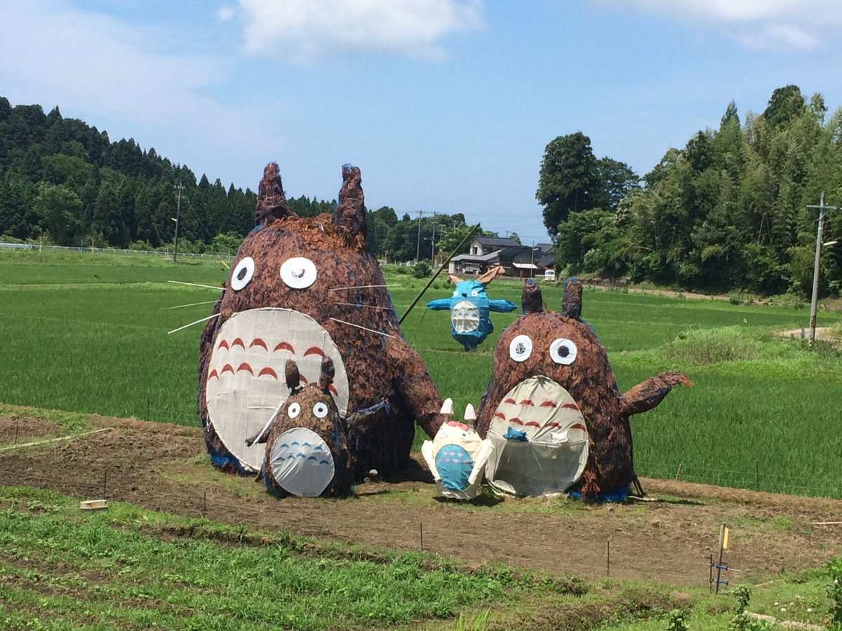 I just came across this in a field in Ishikawa it&#39;s #Totoro <br>http://pic.twitter.com/QgqMQ8zF3y