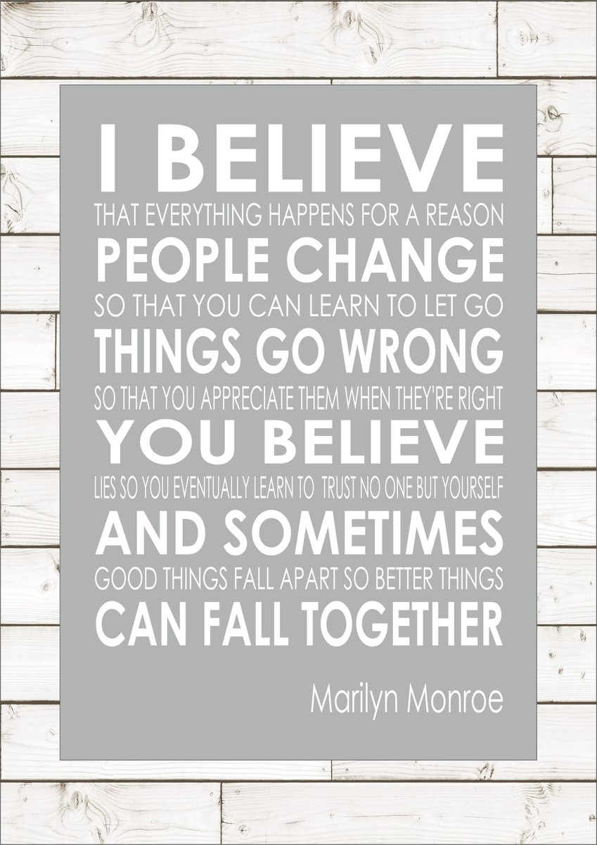 MARILYN MONROE QUOTE - I BELIEVE from £5.95 #UKBiz #eshopsUK #tweetuk #smallbiz #kprs #UKSOPRO #FlockBN #87RT  http:// ow.ly/4nn8AC  &nbsp;  <br>http://pic.twitter.com/bP3f0kCwgB
