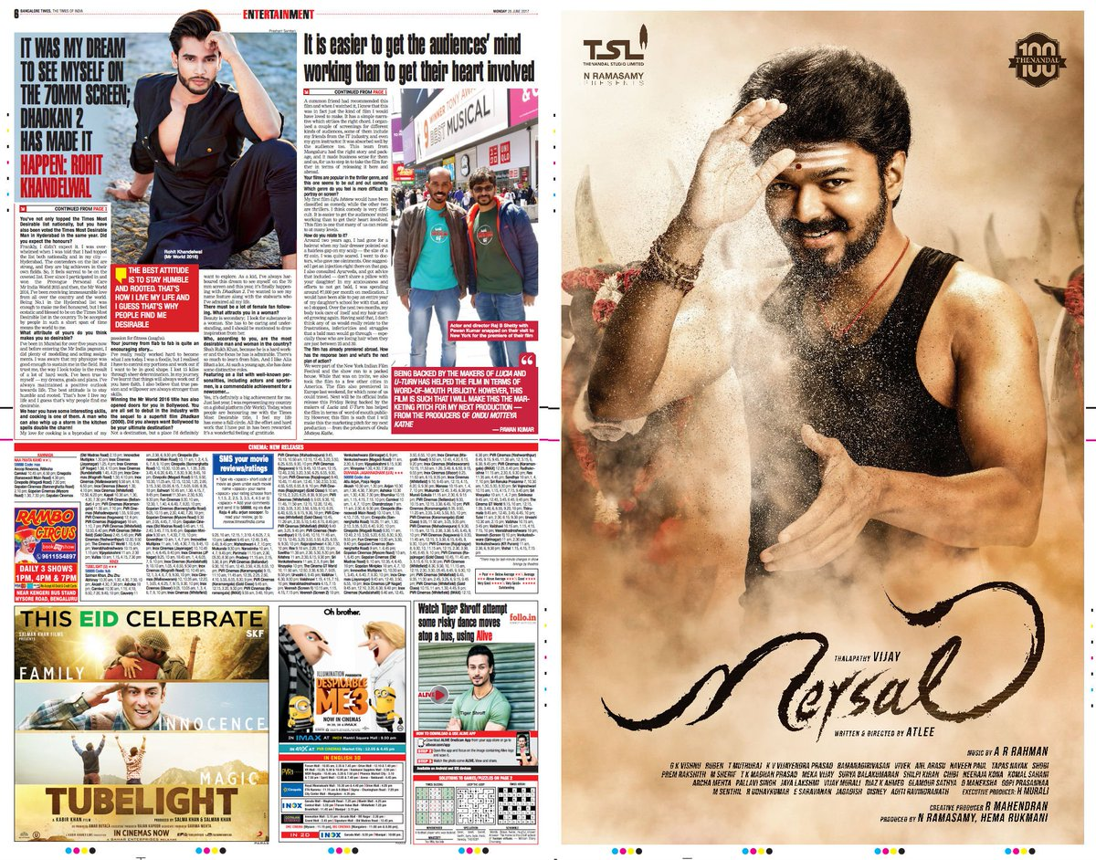 Wow, full page ad for Vijay's Mersal in Bangalore Times! Sign of Vijay's star power in Karnataka? https://t.co/2HzlgtirK1