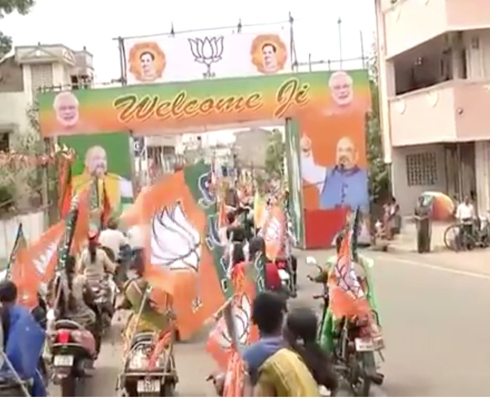 Watch LIVE: Shri @AmitShah's rousing welcome at Puducherry Airport. https://t.co/aFo3DUUzZP