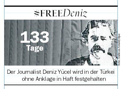 Deniz #Yücel: Seit 133 Tagen in türkischer Haft - #FreeDeniz