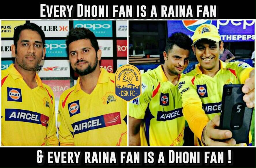 Retweet if you agree ❤️ #Raina #Dhoni