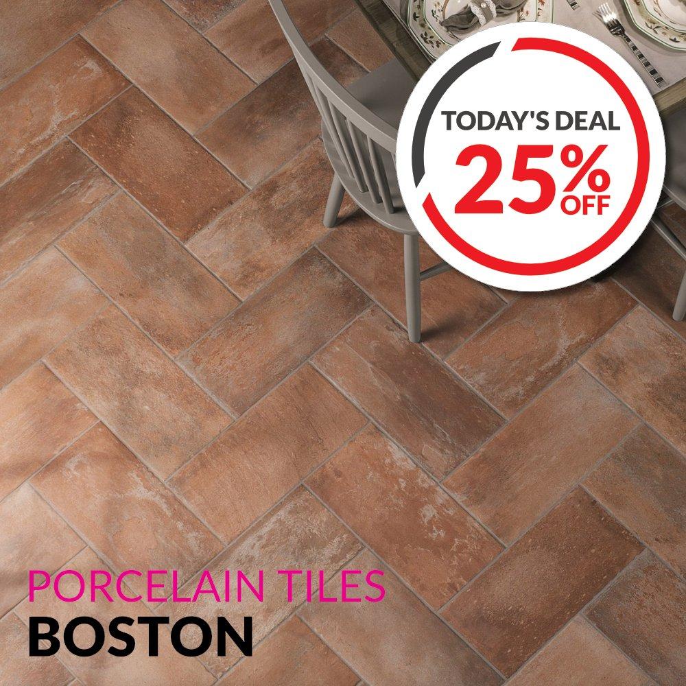 TODAY'S DEAL❗️ 25% OFF Boston Brick Effect Porcelain #Tiles  #DailyDea...