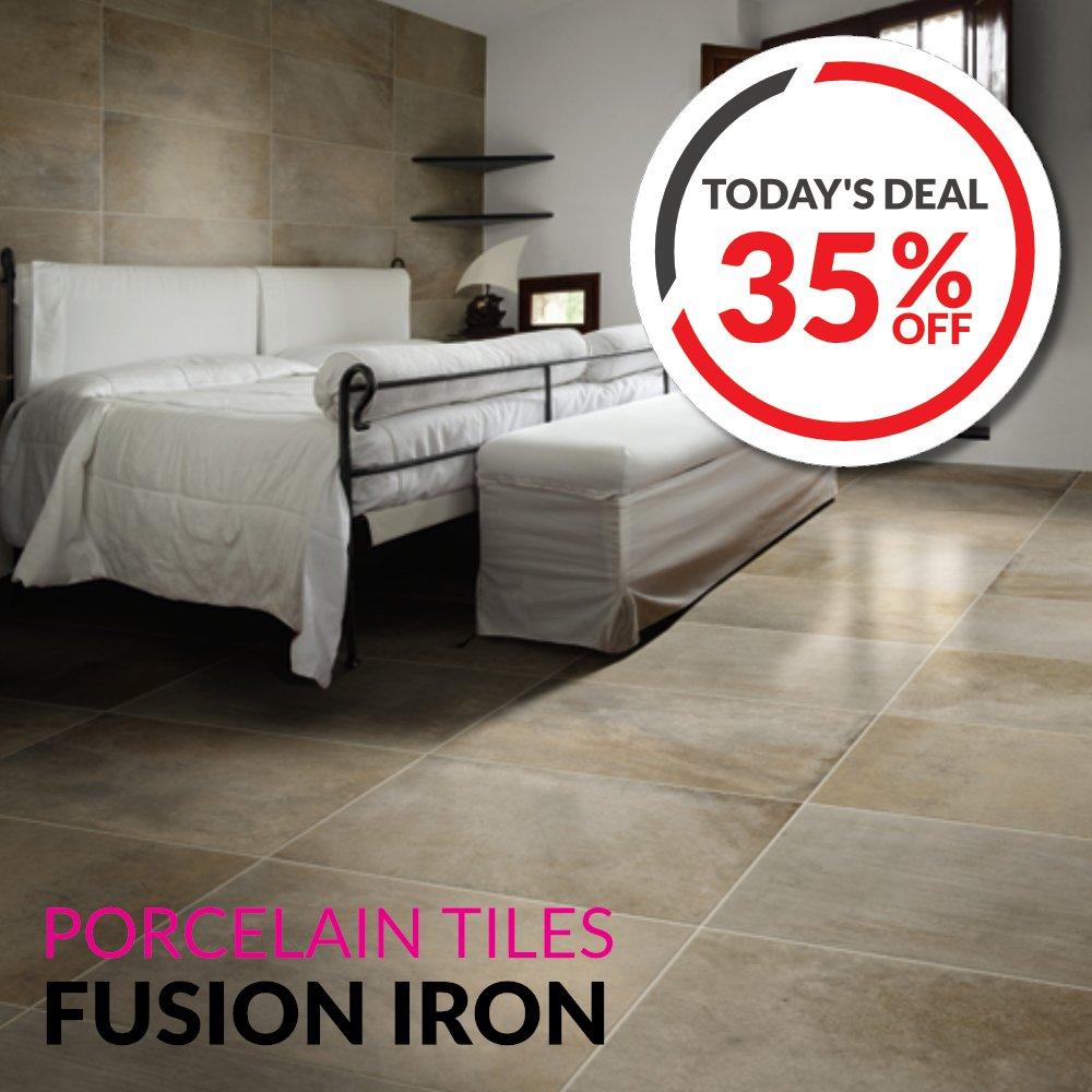 TODAY'S DEAL❗️ 35% OFF Fusion Iron Porcelain #Tiles  #DailyDeal #DIY #...