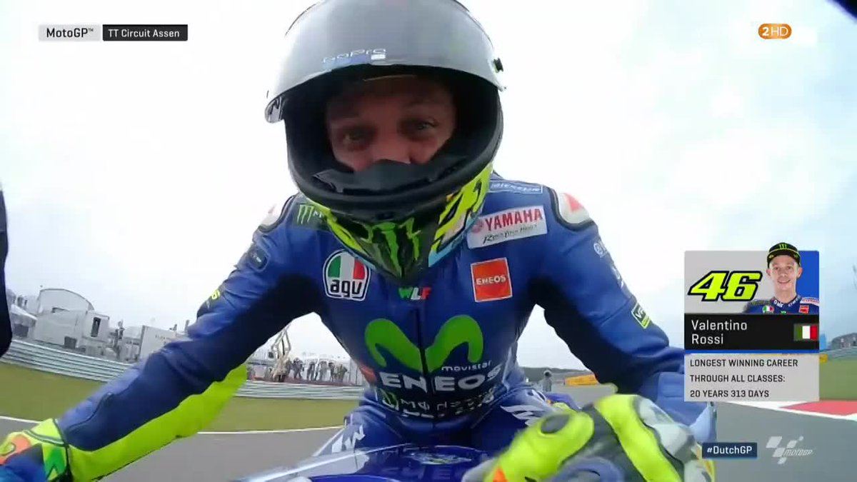 38-years-young and still loving every second of racing 🙌  @ValeYellow4...