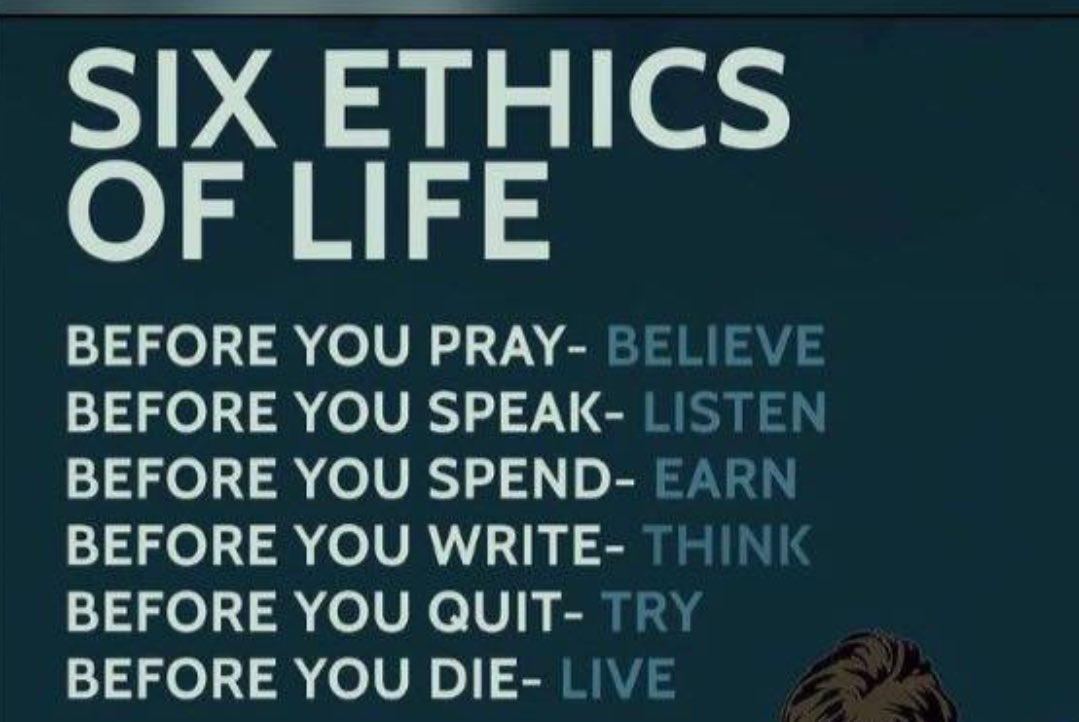 vusi thembekwayo on twitter six ethics of life