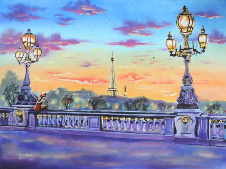 &quot;The lights of Paris&quot; available @artfinder #Paris #Painting   https://www. artfinder.com/product/the-li ghts-of-paris-original-painting-new-art/ &nbsp; … <br>http://pic.twitter.com/hMs9jSN6IY