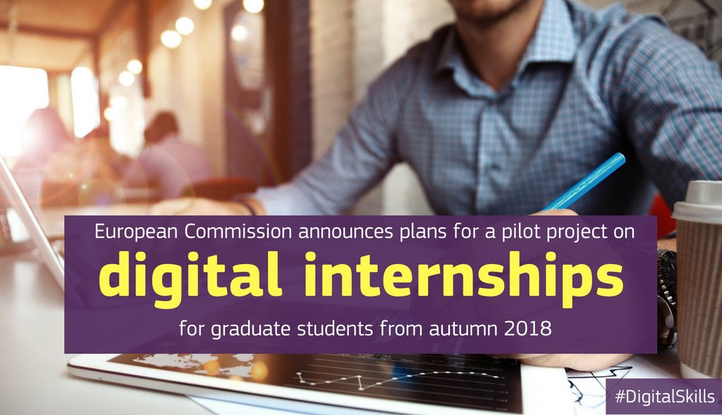 EU plans to launch a €10 million scheme to give students hands-on experience in #bigdata, #cybersecurity or #AI  http:// bit.ly/2sXP38o  &nbsp;  <br>http://pic.twitter.com/3EQOjAOcn9
