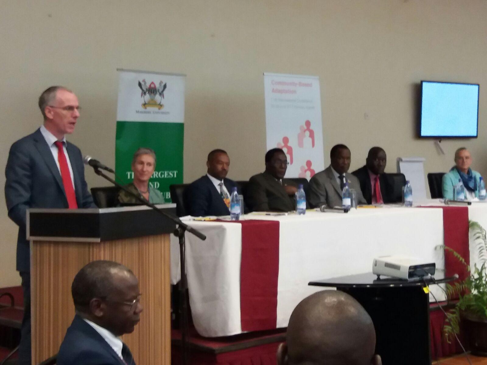 Ambassador @DonalCroninIRL hails Uganda gvt efforts to address CC &  joining of #NDCpartnership & launch of the NAP #CBA11 @IIED @Irish_Aid https://t.co/QwvC5Rm1lN