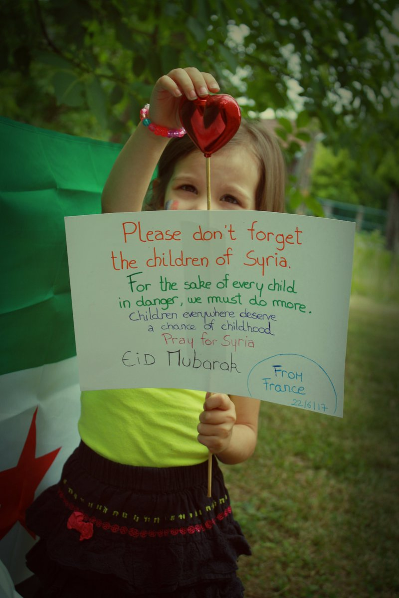 Sweet Children around the  send greetings to all Children in #Syria during #Eid  Please, remember Children in Syria. #EidMubarak  <br>http://pic.twitter.com/49I7pJksQm